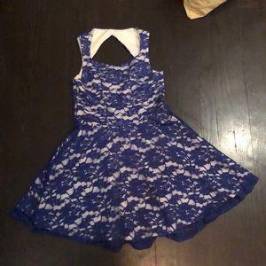 An Aqua dress